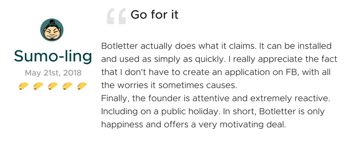 Lifetime Access of Botletter