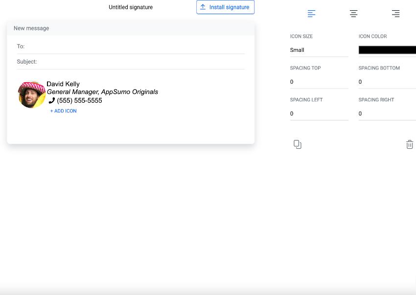 Email signature editor
