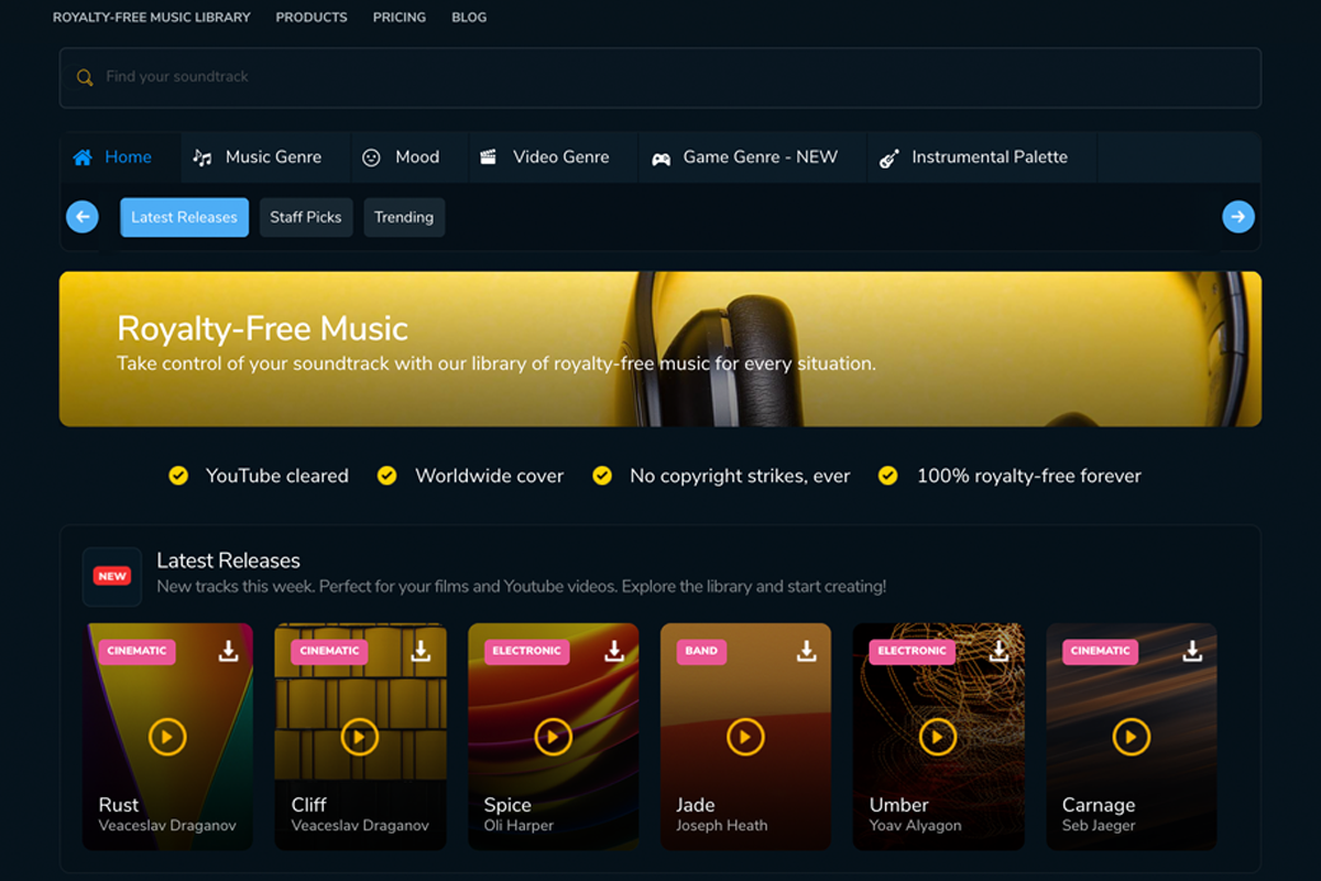 Filmstro music library