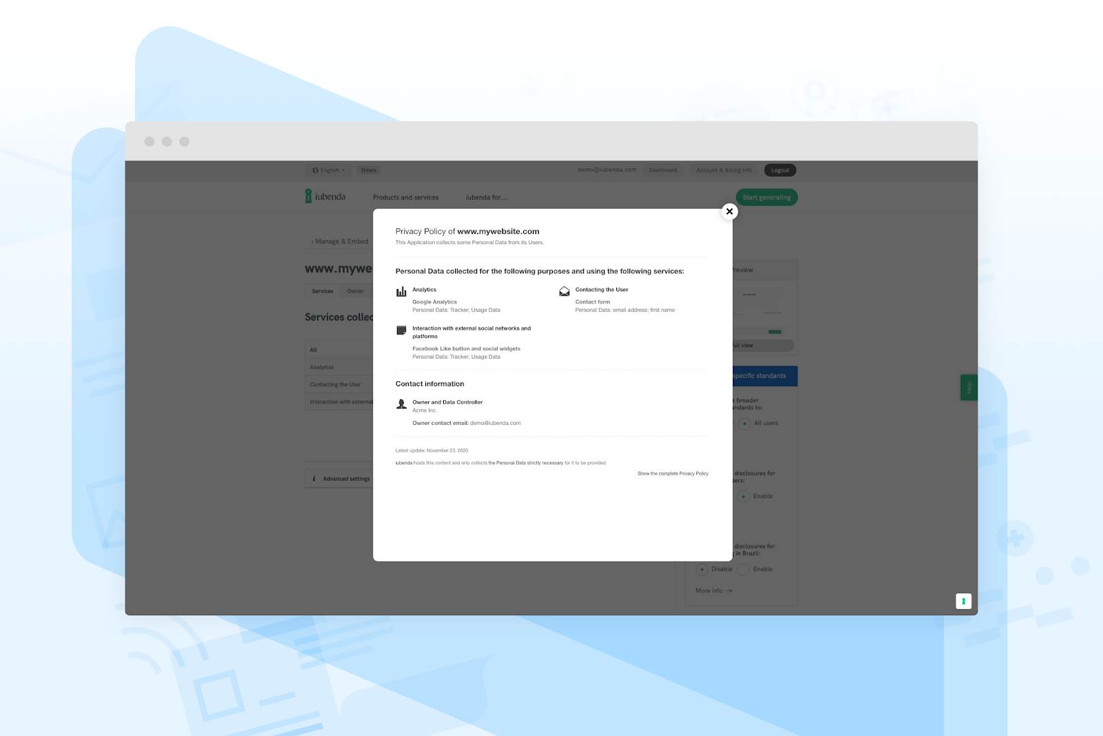 Get automatic updates for legal documents whenever laws change, with close monitoring from legal experts!