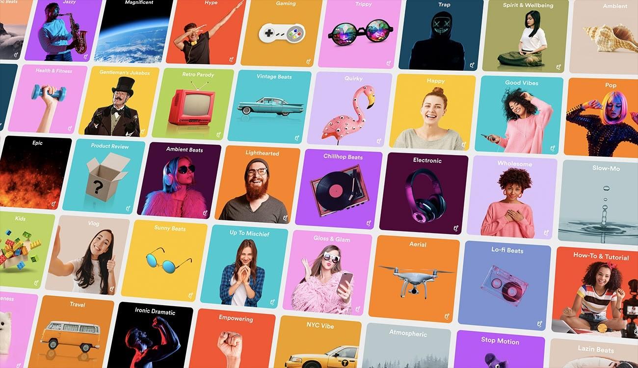 Assortment of album covers
